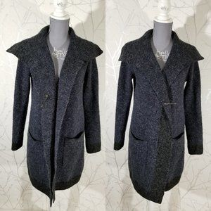 Cyrus Navy Blue Open Front Long Cardigan